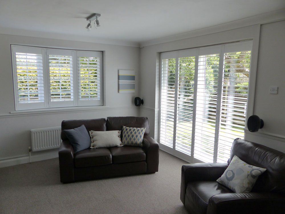 Angled Bay Window Shutters | Gallery | Chichester Shutters