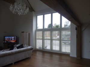 Half Height Plantation Shutters In Barn Conversion