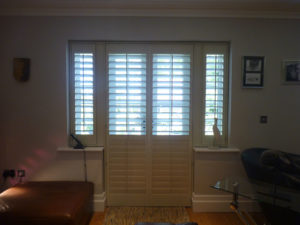 Cream Shutters On French Doors