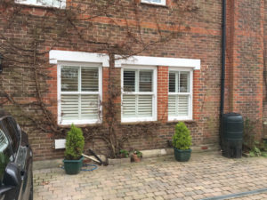 Shutters Fitted To Three Sash Windows