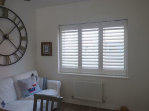 White Shutters In Lounge Window